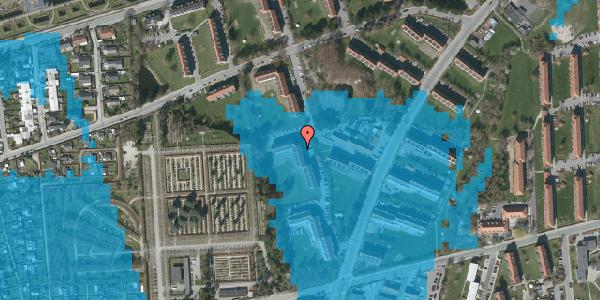 Oversvømmelsesrisiko fra vandløb på Arnold Nielsens Boulevard 54, st. tv, 2650 Hvidovre