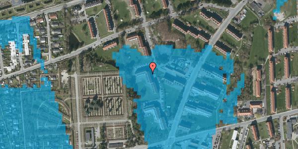 Oversvømmelsesrisiko fra vandløb på Arnold Nielsens Boulevard 54, 1. th, 2650 Hvidovre