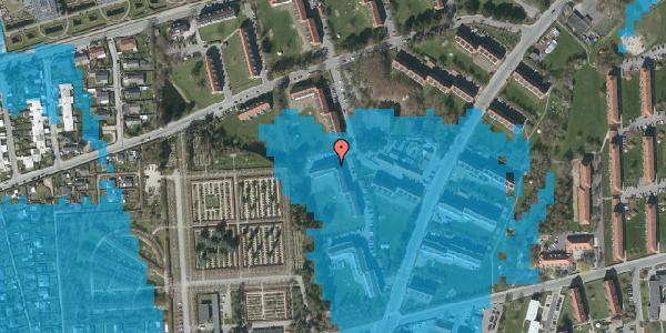 Oversvømmelsesrisiko fra vandløb på Arnold Nielsens Boulevard 56, st. tv, 2650 Hvidovre