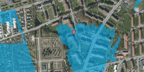 Oversvømmelsesrisiko fra vandløb på Arnold Nielsens Boulevard 56, 3. tv, 2650 Hvidovre