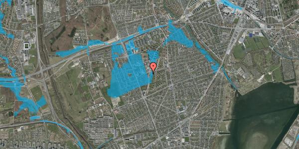 Oversvømmelsesrisiko fra vandløb på Arnold Nielsens Boulevard 57, 2650 Hvidovre
