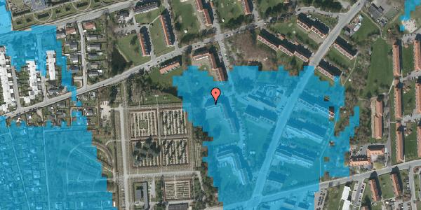 Oversvømmelsesrisiko fra vandløb på Arnold Nielsens Boulevard 58, 2. tv, 2650 Hvidovre
