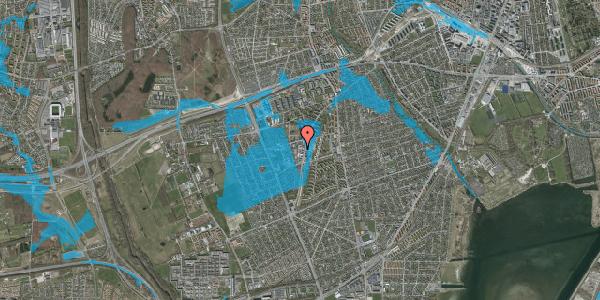 Oversvømmelsesrisiko fra vandløb på Arnold Nielsens Boulevard 64B, 2650 Hvidovre