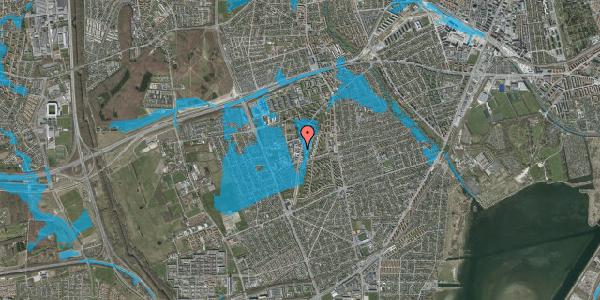 Oversvømmelsesrisiko fra vandløb på Arnold Nielsens Boulevard 66A, 2650 Hvidovre