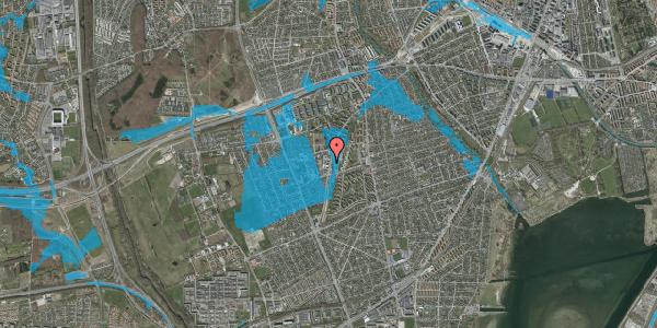 Oversvømmelsesrisiko fra vandløb på Arnold Nielsens Boulevard 66B, 2650 Hvidovre