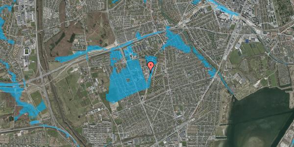 Oversvømmelsesrisiko fra vandløb på Arnold Nielsens Boulevard 68A, 1. 2, 2650 Hvidovre