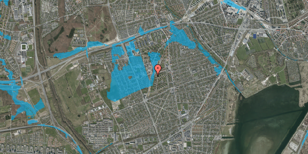Oversvømmelsesrisiko fra vandløb på Arnold Nielsens Boulevard 87A, 2650 Hvidovre