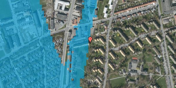Oversvømmelsesrisiko fra vandløb på Arnold Nielsens Boulevard 87B, 2650 Hvidovre