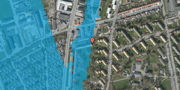 Oversvømmelsesrisiko fra vandløb på Arnold Nielsens Boulevard 89A, 2650 Hvidovre