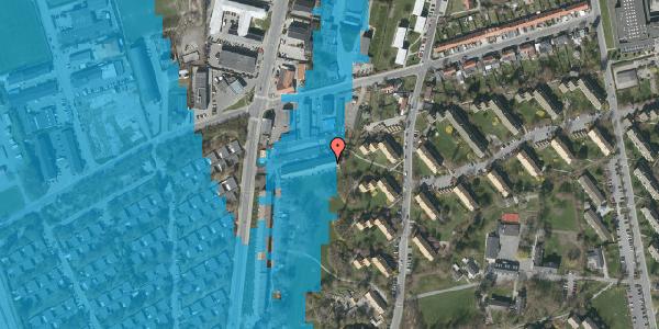 Oversvømmelsesrisiko fra vandløb på Arnold Nielsens Boulevard 89B, 2650 Hvidovre