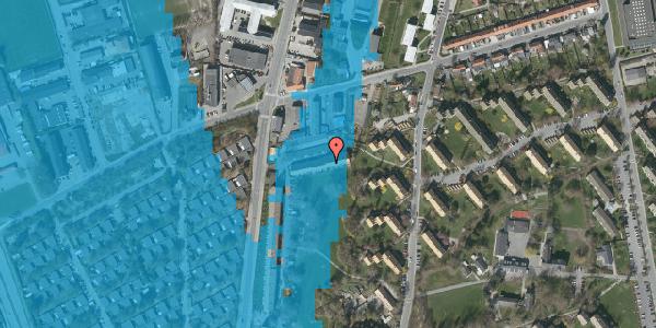 Oversvømmelsesrisiko fra vandløb på Arnold Nielsens Boulevard 93B, 2650 Hvidovre