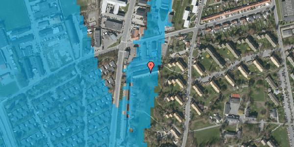 Oversvømmelsesrisiko fra vandløb på Arnold Nielsens Boulevard 95B, 2650 Hvidovre