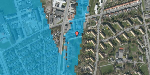 Oversvømmelsesrisiko fra vandløb på Arnold Nielsens Boulevard 97B, 2650 Hvidovre