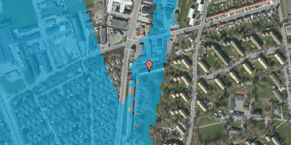 Oversvømmelsesrisiko fra vandløb på Arnold Nielsens Boulevard 101B, 2650 Hvidovre