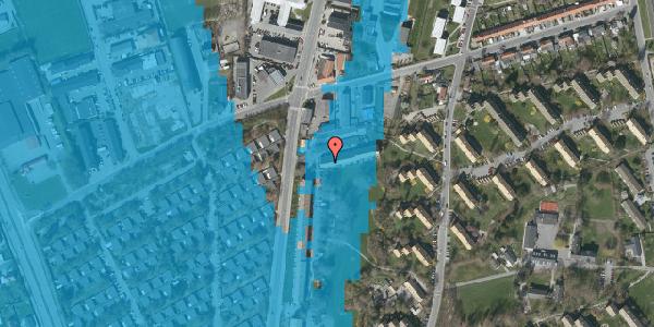 Oversvømmelsesrisiko fra vandløb på Arnold Nielsens Boulevard 105A, 2650 Hvidovre