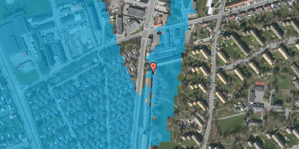 Oversvømmelsesrisiko fra vandløb på Arnold Nielsens Boulevard 107, 2. tv, 2650 Hvidovre