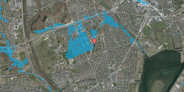 Oversvømmelsesrisiko fra vandløb på Arnold Nielsens Boulevard 109, 2. tv, 2650 Hvidovre