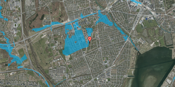 Oversvømmelsesrisiko fra vandløb på Arnold Nielsens Boulevard 111, st. th, 2650 Hvidovre