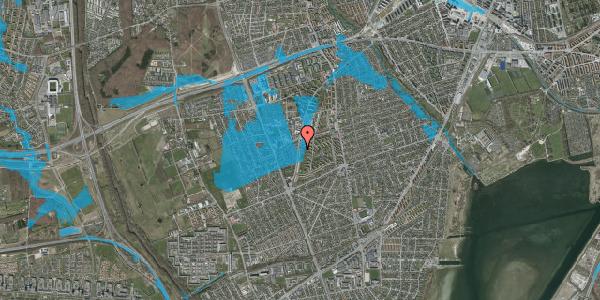 Oversvømmelsesrisiko fra vandløb på Arnold Nielsens Boulevard 111, 2. tv, 2650 Hvidovre