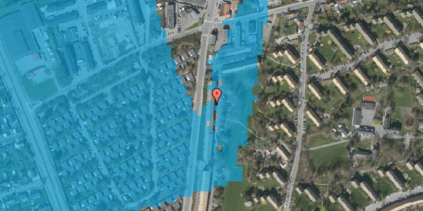 Oversvømmelsesrisiko fra vandløb på Arnold Nielsens Boulevard 113, st. tv, 2650 Hvidovre
