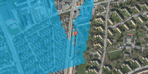 Oversvømmelsesrisiko fra vandløb på Arnold Nielsens Boulevard 113, 2. tv, 2650 Hvidovre