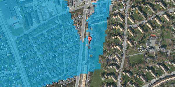 Oversvømmelsesrisiko fra vandløb på Arnold Nielsens Boulevard 117, 2. tv, 2650 Hvidovre
