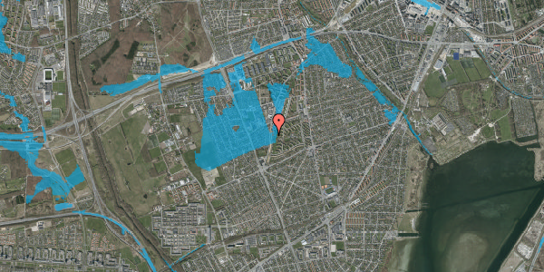 Oversvømmelsesrisiko fra vandløb på Arnold Nielsens Boulevard 119, st. tv, 2650 Hvidovre