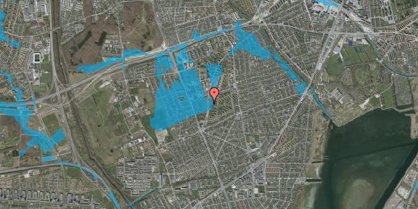 Oversvømmelsesrisiko fra vandløb på Arnold Nielsens Boulevard 119, 2. tv, 2650 Hvidovre