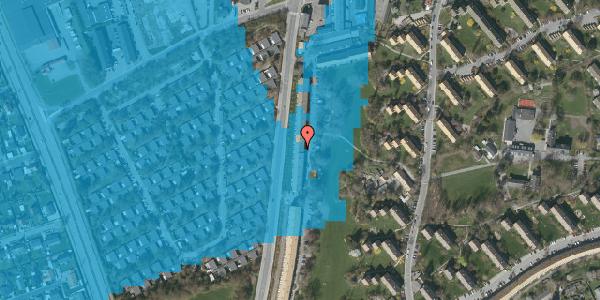 Oversvømmelsesrisiko fra vandløb på Arnold Nielsens Boulevard 121, 2. th, 2650 Hvidovre