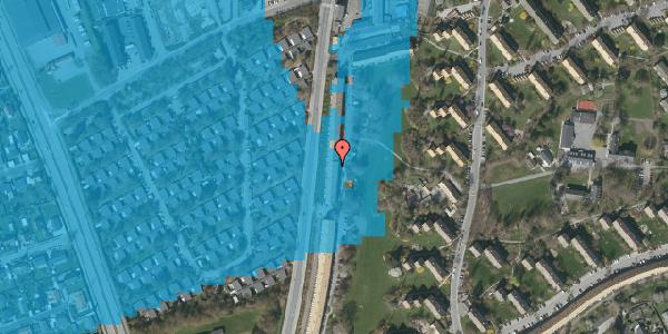 Oversvømmelsesrisiko fra vandløb på Arnold Nielsens Boulevard 123, st. th, 2650 Hvidovre
