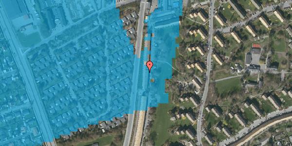 Oversvømmelsesrisiko fra vandløb på Arnold Nielsens Boulevard 123, 2. tv, 2650 Hvidovre