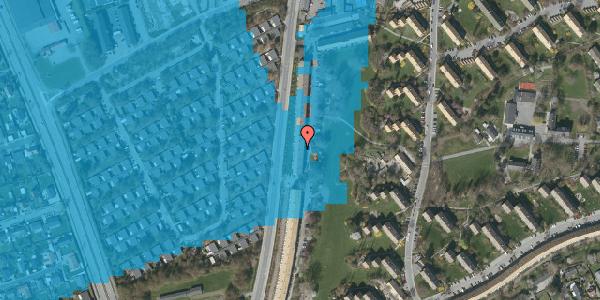 Oversvømmelsesrisiko fra vandløb på Arnold Nielsens Boulevard 125, 2. tv, 2650 Hvidovre