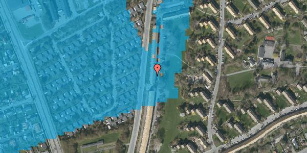 Oversvømmelsesrisiko fra vandløb på Arnold Nielsens Boulevard 127, 1. th, 2650 Hvidovre
