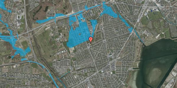 Oversvømmelsesrisiko fra vandløb på Arnold Nielsens Boulevard 128, 2650 Hvidovre