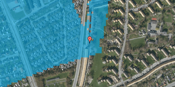Oversvømmelsesrisiko fra vandløb på Arnold Nielsens Boulevard 129, 1. th, 2650 Hvidovre