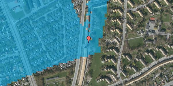Oversvømmelsesrisiko fra vandløb på Arnold Nielsens Boulevard 129, 2. th, 2650 Hvidovre