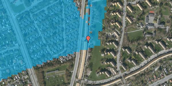 Oversvømmelsesrisiko fra vandløb på Arnold Nielsens Boulevard 131, 2. tv, 2650 Hvidovre