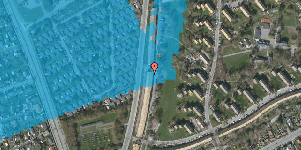 Oversvømmelsesrisiko fra vandløb på Arnold Nielsens Boulevard 131, 3. tv, 2650 Hvidovre