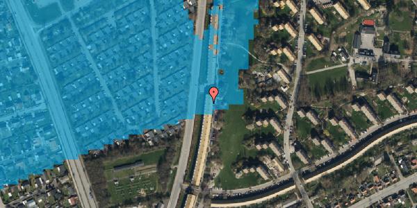 Oversvømmelsesrisiko fra vandløb på Arnold Nielsens Boulevard 133, st. tv, 2650 Hvidovre