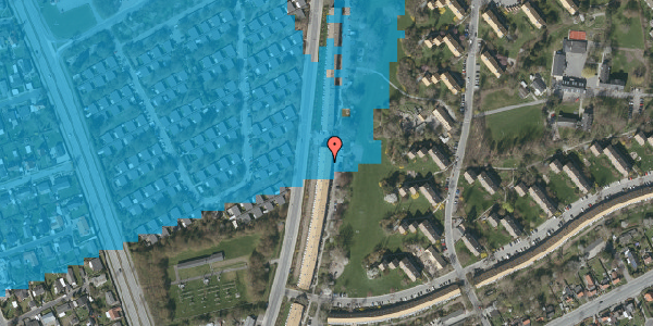 Oversvømmelsesrisiko fra vandløb på Arnold Nielsens Boulevard 133, 1. tv, 2650 Hvidovre
