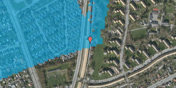 Oversvømmelsesrisiko fra vandløb på Arnold Nielsens Boulevard 133, 2. th, 2650 Hvidovre