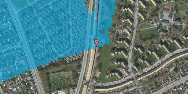 Oversvømmelsesrisiko fra vandløb på Arnold Nielsens Boulevard 135, st. tv, 2650 Hvidovre