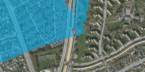 Oversvømmelsesrisiko fra vandløb på Arnold Nielsens Boulevard 135, 2. tv, 2650 Hvidovre