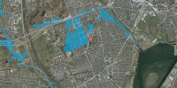 Oversvømmelsesrisiko fra vandløb på Arnold Nielsens Boulevard 137, 2. tv, 2650 Hvidovre