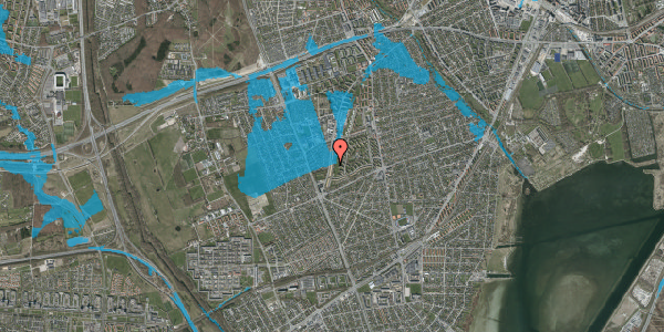 Oversvømmelsesrisiko fra vandløb på Arnold Nielsens Boulevard 137, 3. tv, 2650 Hvidovre