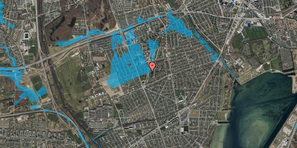 Oversvømmelsesrisiko fra vandløb på Arnold Nielsens Boulevard 139, st. tv, 2650 Hvidovre