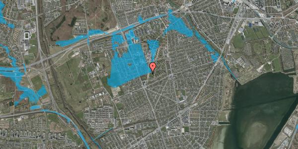 Oversvømmelsesrisiko fra vandløb på Arnold Nielsens Boulevard 141, 2. tv, 2650 Hvidovre