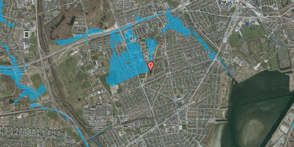 Oversvømmelsesrisiko fra vandløb på Arnold Nielsens Boulevard 145, st. tv, 2650 Hvidovre