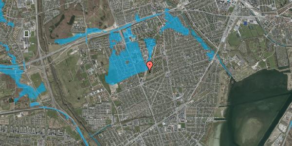 Oversvømmelsesrisiko fra vandløb på Arnold Nielsens Boulevard 147, st. tv, 2650 Hvidovre