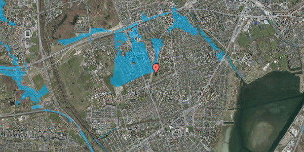 Oversvømmelsesrisiko fra vandløb på Arnold Nielsens Boulevard 153, 1. th, 2650 Hvidovre